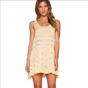 Free People Intimately Voile Lace Trapeze Dress-I5